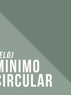 Reloj Minimo Circular  – Toshi