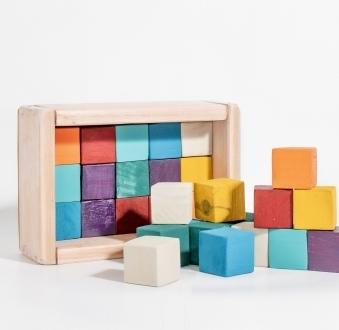 Cubos de madera x 29