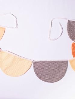 Banderines circulares de tela doble x 2 mts – tonos cálidos