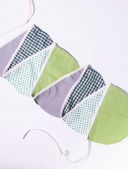 Banderines circulares de tela doble x 2 mts – tonos fríos