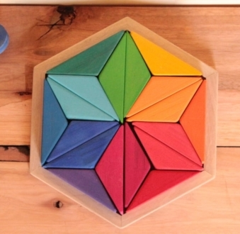 Promo Arcoiris grande + Rompecabeza Hexagonal